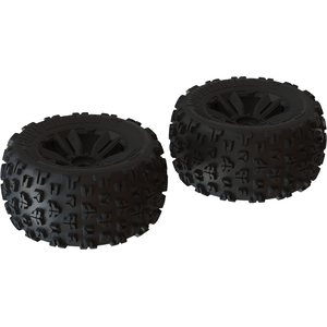 ARRMA RC ARA550059 DBOOTS 'COPPERHEAD2 MT' TYRE SET GLUED (BLACK) (2PCS)