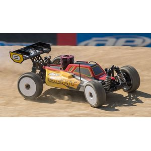 Losi 1/8 8IGHT 4WD Buggy Nitro RTR, Red/Yellow (LOS04010)