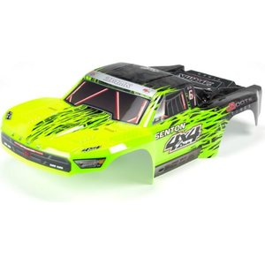 ARRMA RC Painted Body with Decal Trim, Green: Senton 4x4 BLX AR402204