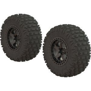 ARRMA RC DBOOTS 'FORTRESS SC' TIRE SET GLUED (BLACK CHROME) (2PCS) AR550043