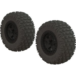 ARRMA RC DBOOTS 'FORTRESS SC' TIRE SET GLUED (BLACK) (2PCS) AR550042