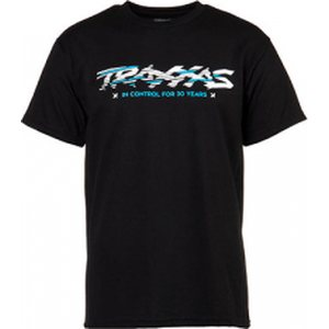 Traxxas 1373-S T-shirt Black Traxxas-logo Sliced S