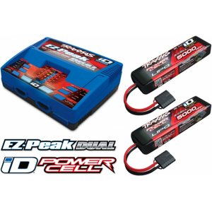 Traxxas 2990GX Charger EZ-Peak Dual 8A and 2x3S 5000mAh Battery Combo