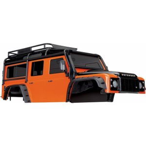 Traxxas 8011A Body Land Rover Defender Orange Complete