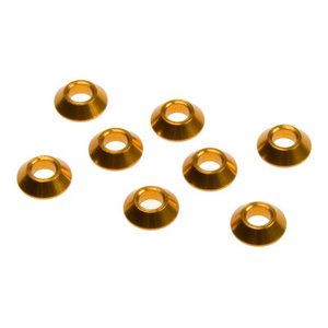 Team Durango PIVOT BALL BUSHING : CONICAL 7x3x2mm (10pcs)