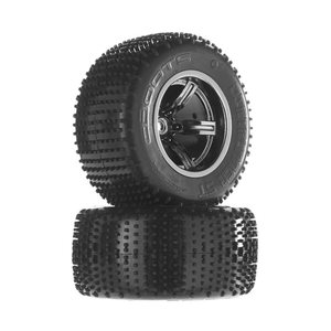 ARRMA RC AR550009 Dirtrunner ST Tire/Whl Glued Blck/Chrm Re (2)