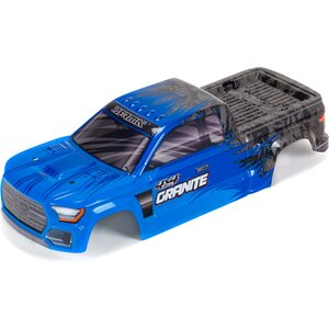 ARRMA RC GRANITE 4X4 MEGA PAINTED DECALED TRIMMED BODY (BLUE) ARA402302