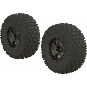 ARRMA RC ARA550087 Dboots 'Fortress SC' Tire Set Glued Gun Metal (2)