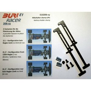 Buri Racer Battery Mount for Shorty LiPos