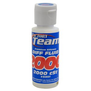 Team Associated 5451 FT Silicone Diff Fluid 2000cst, for gear diffs