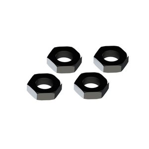 ARRMA RC AR310449 Wheel Nut Aluminum 17mm Black (4)