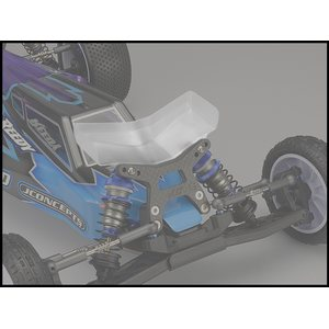 JConcepts Aero B6 | B6D | B6.1 front wing, Fits gullwing front arm - wide, 2pc
