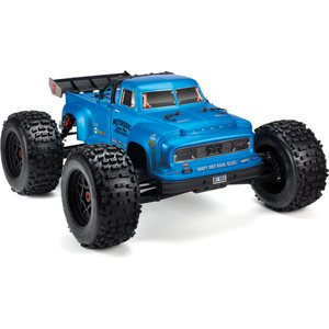 ARRMA RC NOTORIOUS 6S BLX PAINTED DECALED TRIMMED BODY (BLUE/BLACK - REAL STEEL) AR406152, AR406147