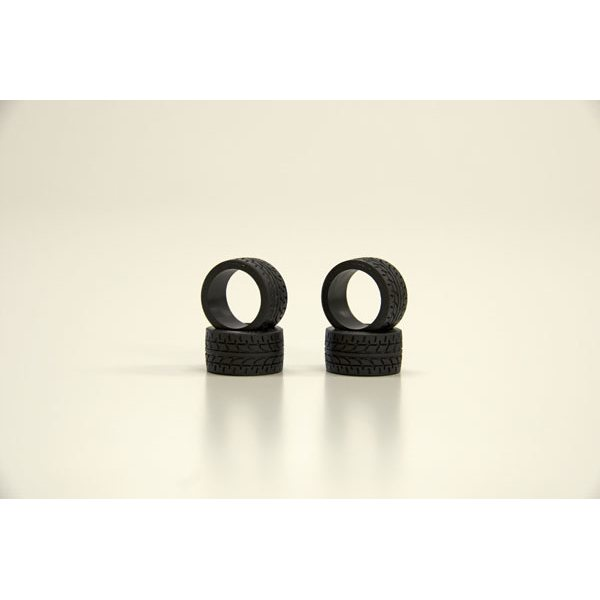 Kyosho Mini-Z RACING RADIAL TYRES 30 SHORE - WIDE (4) K.MZW38-30