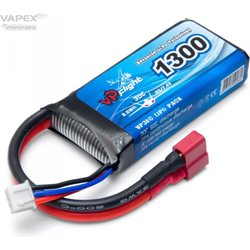 Vapex Li-Po Battery 2S 7.4V 1300mAh 30C T-Connector