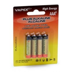 Vapex Plus Alkaline batteries AAA 4pc