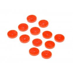 HB Racing Shock Piston Set V2 (16mm/Orange/6 Pairs) HB114744