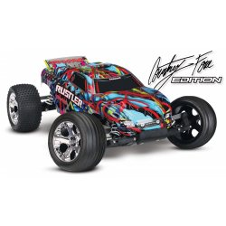 Traxxas Rustler 2WD 1/10 RTR TQ, Courtney Force / Pink