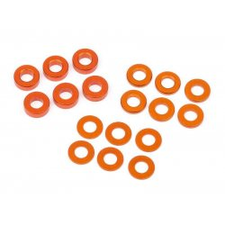 HB Racing WASHER SET 3X6MM (0.5MM/1.0MM/2.0MM/ORANGE/6PCS) HB112797