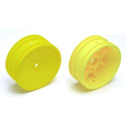 Team Associated 9691 BUGGY FRONT WHEEL HEX, YELLOW