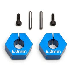Team Associated FT Clamping Wheel Hexes, 6.0mm