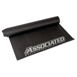 Team Associated SP428 AE 2018 Pit Mat, black, silver lettering