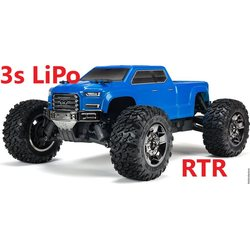 ARRMA RC BIG ROCK CREW CAB 4x4 BLX 1/10 Monster Truck 3s LiPo package