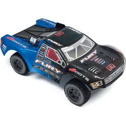ARRMA RC AR402176 FURY MEGA PAINTED DECALED TRIMMED BODY (BLUE)