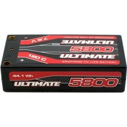 Ultimate Racing ULTIMATE GRAPHENE HV LIPO SHORTY 5800 7.6V 120C 5MM TUBES