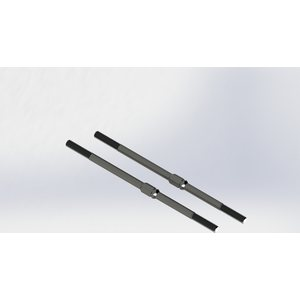 ARRMA RC AR340071 STEEL TURNBUCKLE M4X95MM (BLACK) (2PCS) (ARAC9389)
