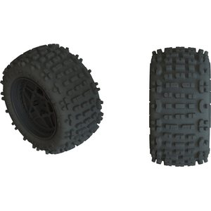 ARRMA RC DBOOTS 'BACK-FLIP LP 4S' TIRE SET GLUED (BLACK) (2PCS) AR550050 (ARAC9468)