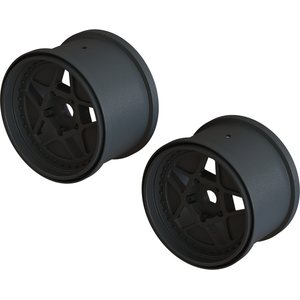 "ARRMA RC MT 3.8"" WHEEL 17MM HEX (BLACK/2PCS) AR510113 (ARAC9466)"