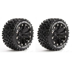 "Louise 1/10 Scale Traxxas Style Bead 2.8"" Stadium Truck Soft Compound / Black Rim"
