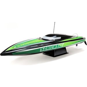 "Proboat Sonicwake 36"" Self-Righting Brushless Deep-V RTR, Black / White"