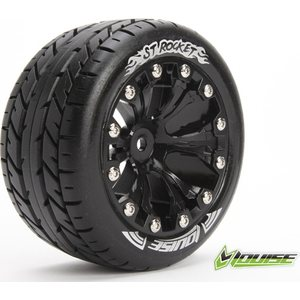"Louise Tire & Wheel ST-ROCKET 2,8"" Black 0-Offset (2) L-T3208B"