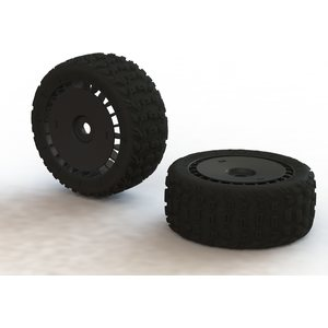 ARRMA RC KATAR T 6S Tire Wheel Set: Talion (2) (ARAC9615)
