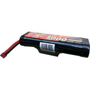Gens ace 5000mAh 8.4V 7-Cell NiMH Hump Battery Pack with T plug