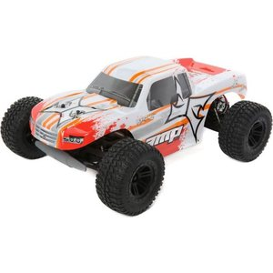 ECX AMP MT 1:10 2WD Monster Truck: White/Orange RTR INT
