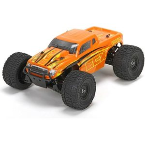 ECX Ruckus 1/18 4WD Monster Truck: Org/Yel RTR INT