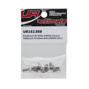 Ultimate Racing M3x8mm FLAT HEAD SCREWS (10pcs.)