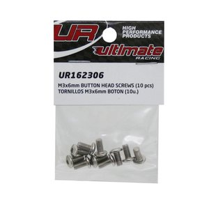 Ultimate Racing M3x6mm BUTTON HEAD SCREWS (10pcs.)