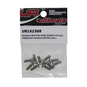 Ultimate Racing M3x8mm BUTTON HEAD SCREWS (10pcs.)