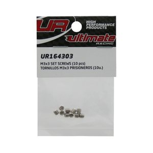 Ultimate Racing M3x3mm SET SCREWS (10pcs.)