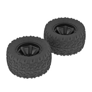 ARRMA RC AR550014 Copperhead MT Tire/Wheel Glued Black (2)