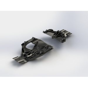 ARRMA RC AR320283 Steering Skidplate Set  Nero