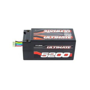Ultimate Racing ULTIMATE 14.8v. 5200 mAh 110C LIPO BATTERY SHORTY PACK 5mm TUBES