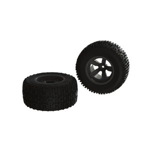 ARRMA RC AR550041 Dirtrunner ST Rear Tire Set Glued Black (2)