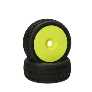 HB Racing HB Beams Mounted Tire (Yellow Wheel/1:8 Buggy)