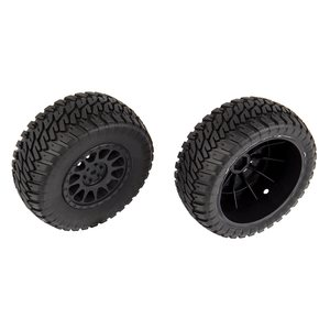Team Associated 71044 Multi-terrain Tires and Method Wheels, mounted