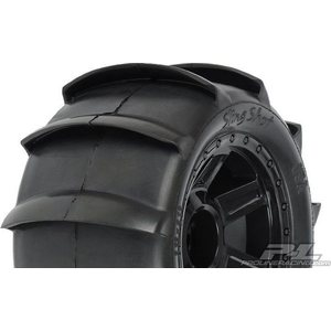 "Pro-Line Sling Shot Paddle-tires on 3.8"" wheels (2) 1179-11"